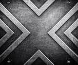 x pattern on metal background - 18279566