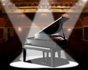 grand piano in concert