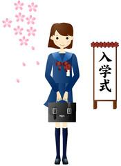 入学式の女子学生