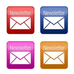 newsletter button kollektion farbig