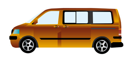 vector illustration  van car minibus isolated