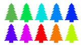 Vianočný strom farby