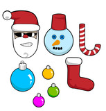 Set of xmas icons