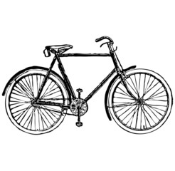 old classic bike Illustration Vector