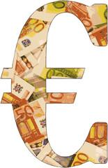 Alphabet of money - Letter €