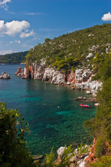 Bay near Stafilos cape. Skopelos. Greece.