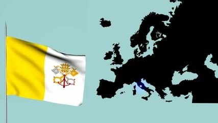 Città del Vaticano Bandiera