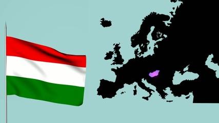 Ungheria Bandiera europea