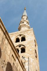 Torre de la mezquita Homeya, Damasco, Siria