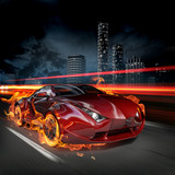 Fototapety Hot car