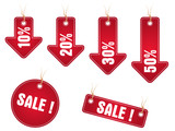 Sale stickers poster