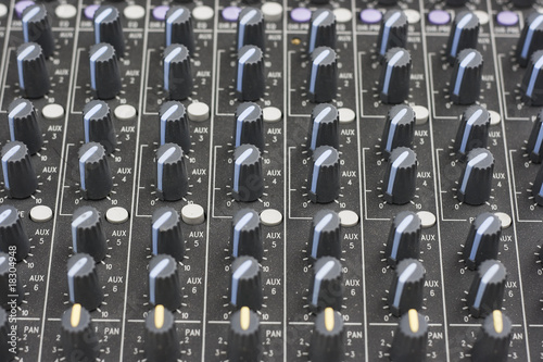Close up of a Sound Mixer