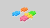 Animation of colourful jigsaw