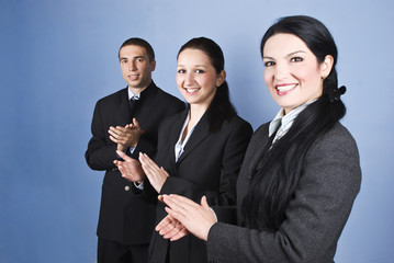 Congratulations!Business team clapping