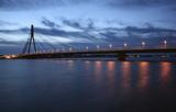 bridge in riga, latvia poster