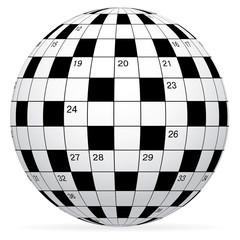 A blank crossword vector