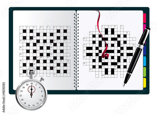 A blank crossword vector in note