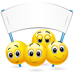 Smiley balls at the meeting