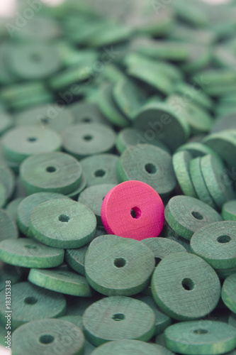 Coloured wooden beads background