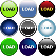 Load buttons. Vector set.