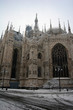 Milan cathedral dome in winter detail