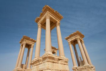 Columnas en Palmira, Siria