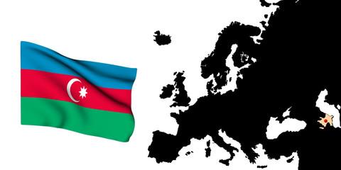 Europa bandiera Arzebaigia