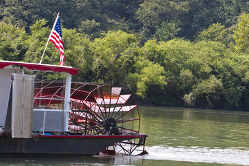 Paddle Wheel on River Boat