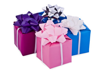 Boxes with gifts
