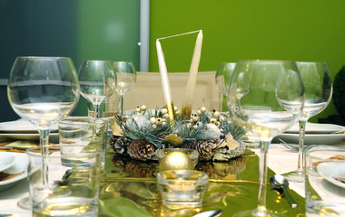 Luxury celebration table setting
