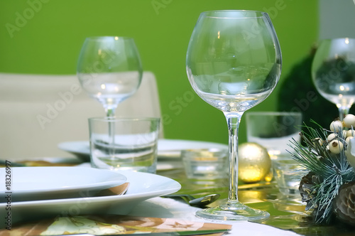 Luxury restaurant setting