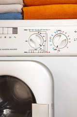 washing machine and towels