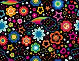 Rainbow Celestial seamless wallpaper poster