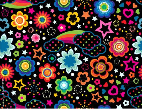 Rainbow Celestial seamless wallpaper