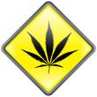 """Panneau """" Cannabis """" (losange - effet brillant - vecteur)"""