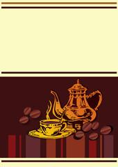 Cafe menu template. Vector art-illustration.