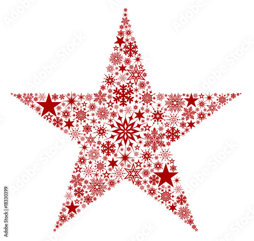 X-Mas Star Red