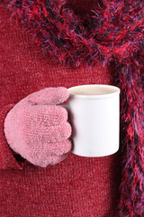 Warm beverage in Winter