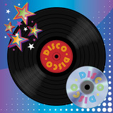 Vinyl Plate and Digital Laser Disc, Disco Music Media poster