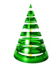 Weihnachtsbaum aus Glas