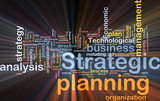 Strategic planning word cloud box package poster