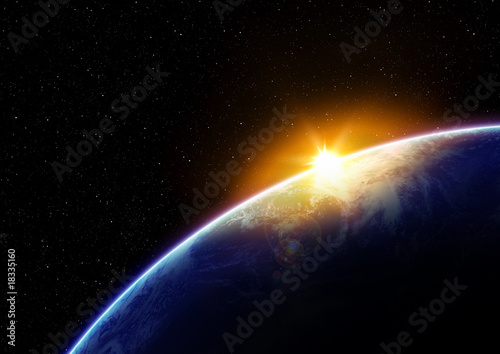 canvas print picture 地球と太陽