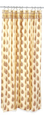 brown print shower curtain