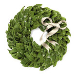 green holiday wreath