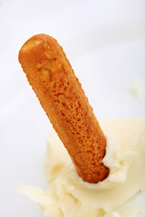 Breadstick with cream cheese dip