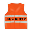 warnweste neonorange security I