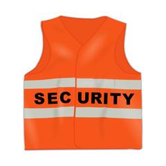 warnweste neonorange security I