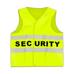 warnweste neongelb security I