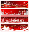 Four Christmas horizontal banners