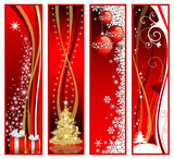 Fototapety Four Christmas vertical banners